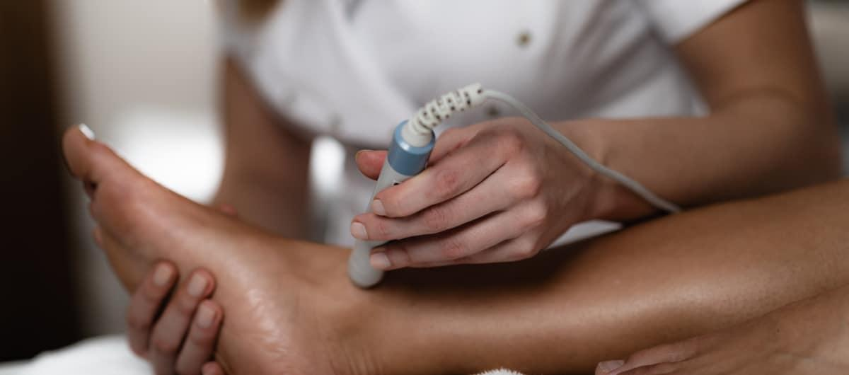 MLS Laser Therapy treatment on foot