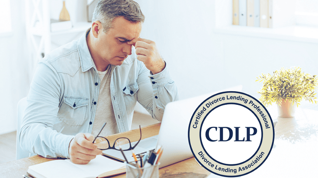 Man dealing with mortgage mistakes during divorce