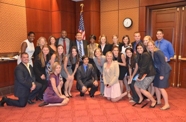 Pictured here the 2012 class of Foster Year Interns, the Fall Class of Office interns, and 2012 CCAI Staff on the day the 2012 FYI's presented their policy papers to members of congress in a briefing.