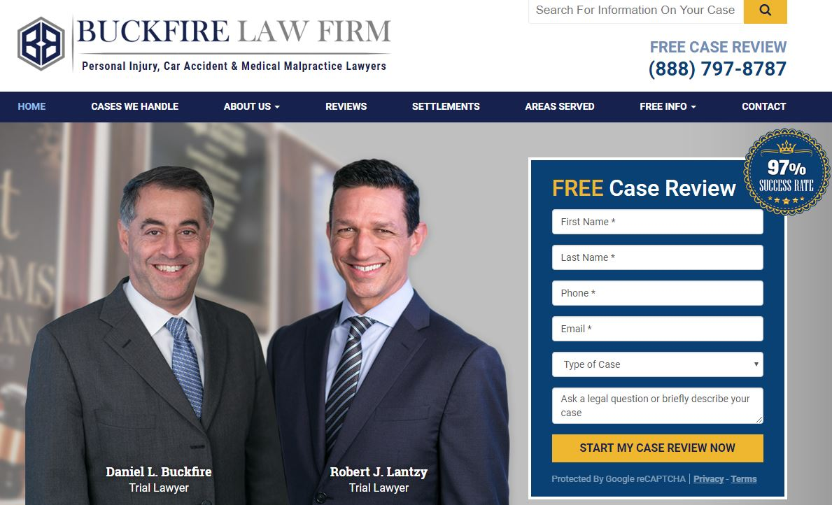 Buckfire Law Redesigned Website