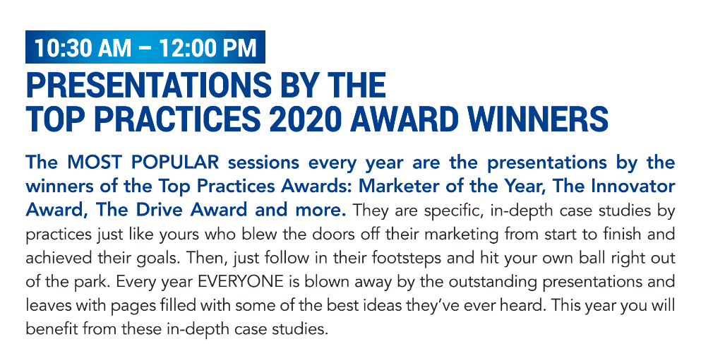 Presentations by the Top Practices 2020 Award Winners