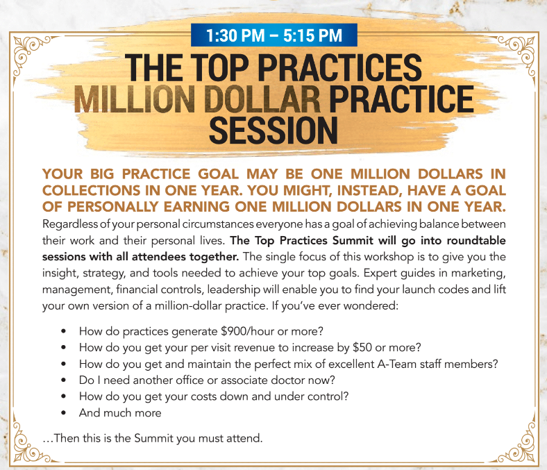 Million Dollar Practice