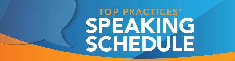Speaking Schedule