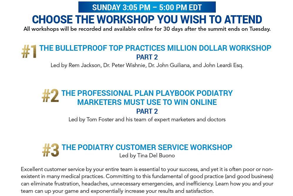 Choose Your Workshop
