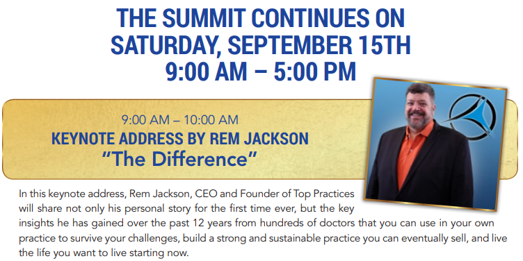 Summit Saturday Agenda