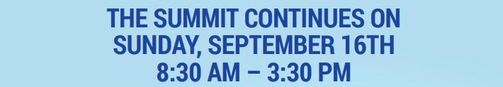 Summit Continues on Sunday