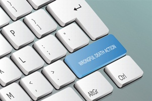 computer keyboard with wrongful death action key