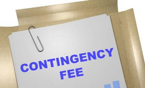 file folder and paper clip contingency fee