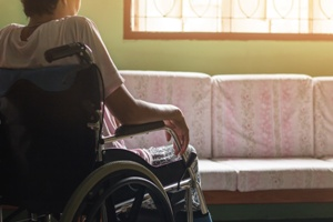 nursing home resident with multiple sclerosis