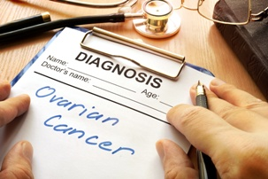 ovarian cancer written on diagnosis form
