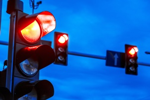 red traffic lights at kentucky intersection Gray & White