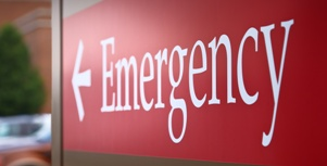 sign for hospital emergency department