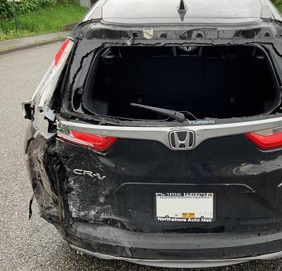 18-wheeler accident near Bellingham