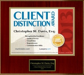 client distinction award for seattle attorney