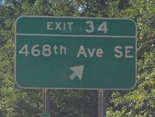 Exit 34 off I-90 Washington State