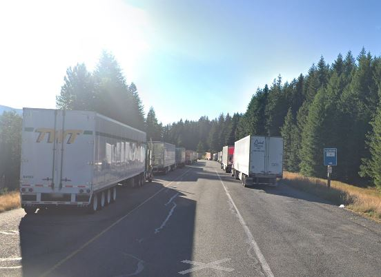 Semi Trucks Parked Exit 34 off I-90 Washington State
