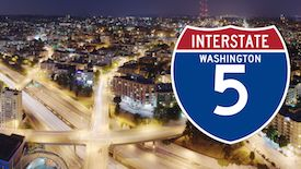 I-5 truck crashes washington