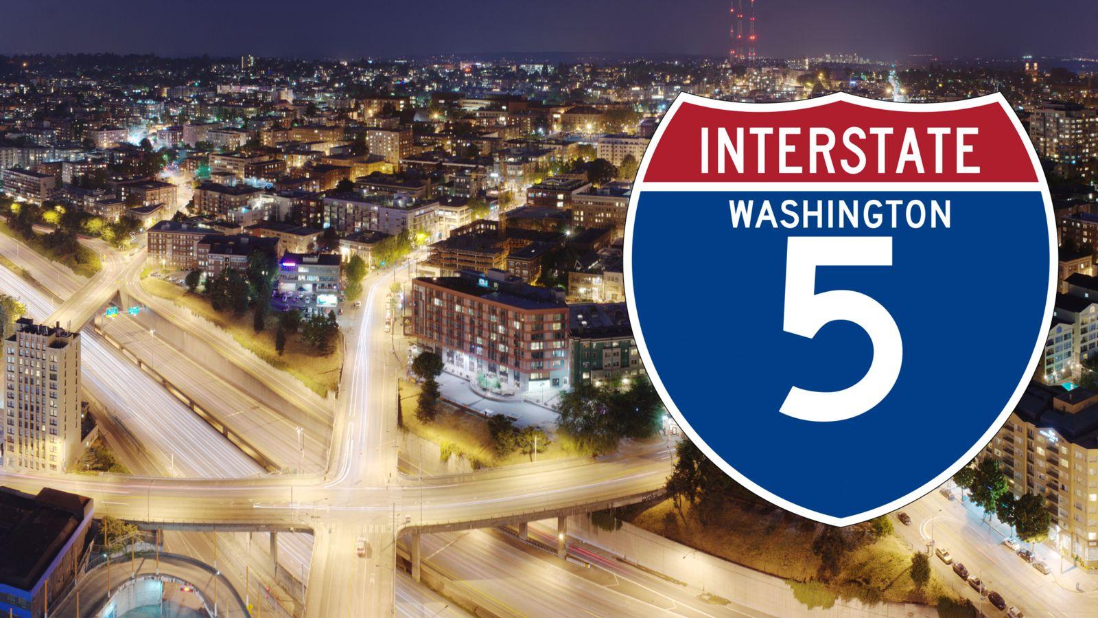 I-5 truck crashes washington