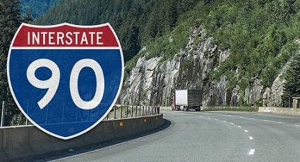 I-90 semi truck accidents