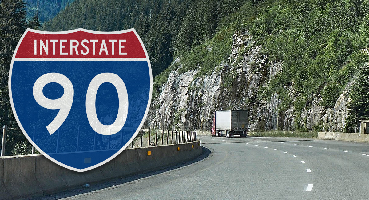 I-90 semi truck accidents