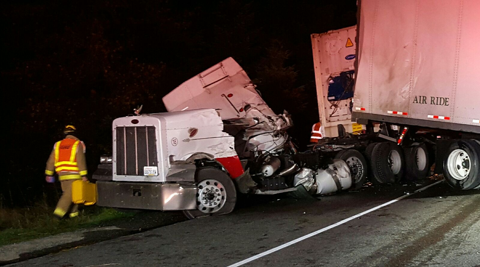 north bend truck accident