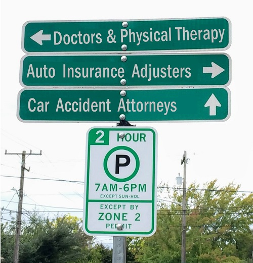 Doctors, Physical Therapy, Auto Insurance Adjusters, Car Accident Attorneys