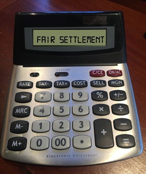 fair settlement calculator