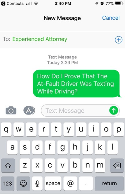 how to prove texting while driving