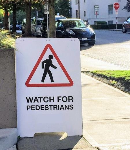 watch for pedestrians avoid accident