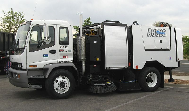 street sweeper accident