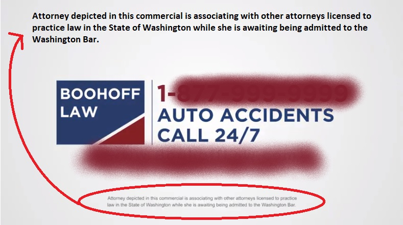 Boohoff Law YouTube Washington State Bar Disclaimer