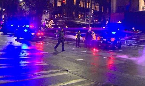 downtown seattle pedestrian crosswalk accident