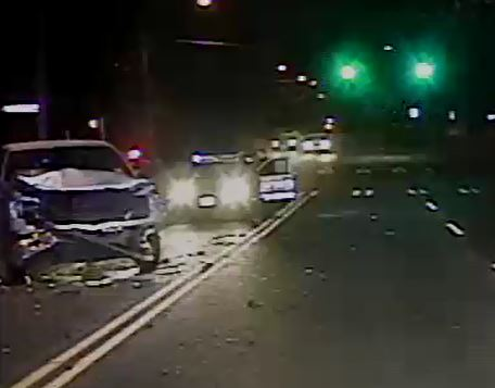 drunk driving crash police video