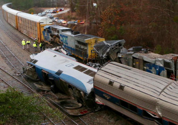 South Carolina Amtrak Train Derailment