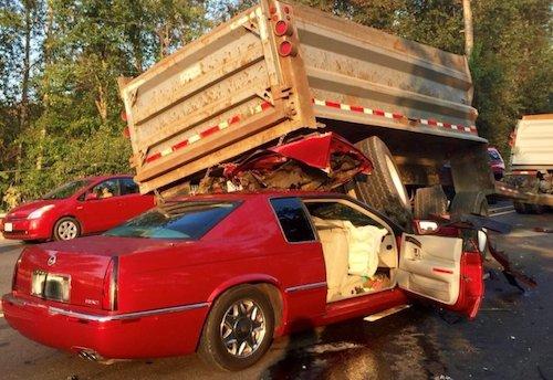 sr167 dump truck crash