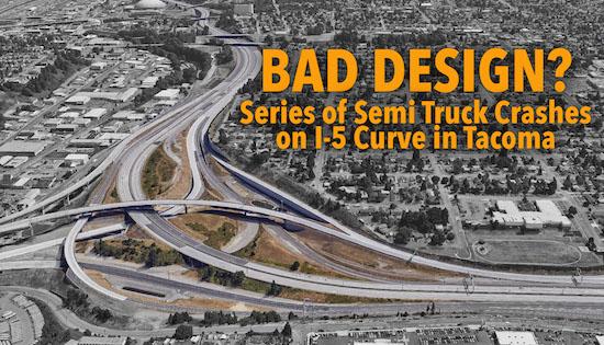 tacoma semi truck crashes