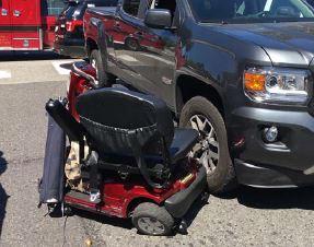 wheelchair driver hit in crosswalk