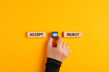 Accept and Reject Wooden Buttons