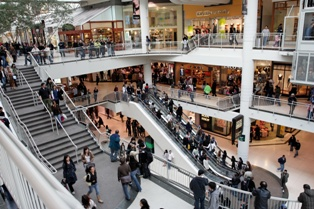 Busy Mall Scene With Many Places for a Slip and Fall injury