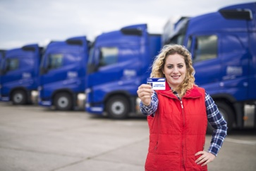 Woman Truck Driver With CDL License