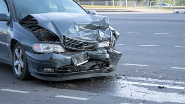 Front End of a Car After a Wreck Caused by a Negligent Driver