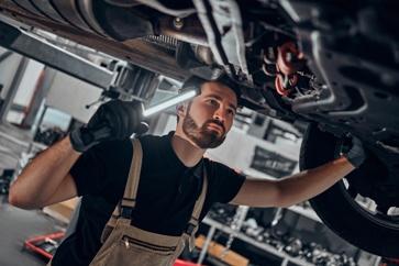 Car Mechanic Inspecting a Car