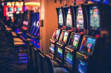 Casino Slot Machines and Chairs