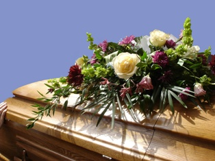 Casket at a Wrongful Death Funeral