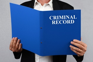 Blue Criminal Record Folder After a DUI Conviction