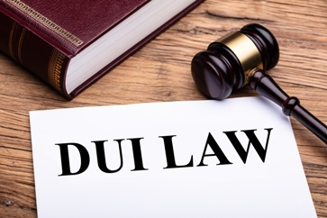 DUI Law Paperwork and Book With a Gavel