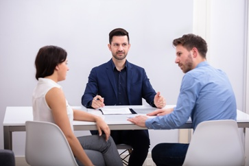 Couple at a Divorce Mediation