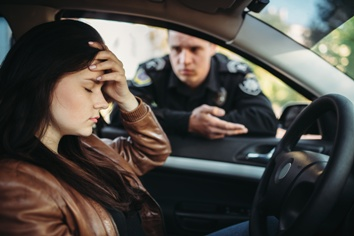 Woman Upset After Being Pulled Over for Reckless Driving