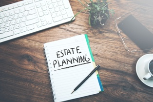 Estate Planning Notebook on Desk