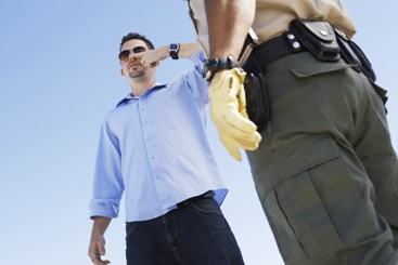 Police Officer Administering a Field Sobriety Test